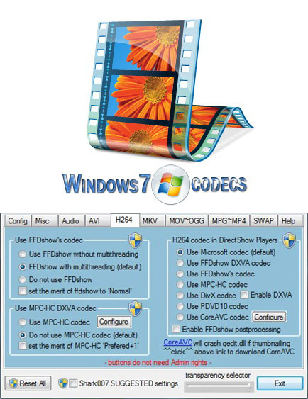 Windows 7 Codec Pack 3.6.0