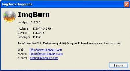 ImgBurn 2.5.5.0 Azərbaycan