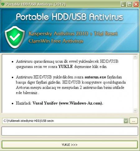 Portable HDD/USB Antivirus