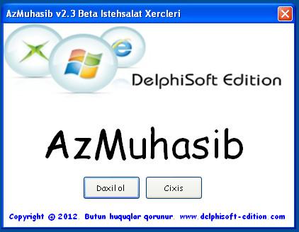AzMuhasib v2.3 Beta İstehsalat Xərcləri