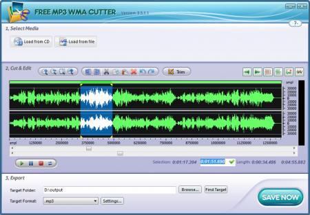 Free MP3 WMA Cutter 3.9.4
