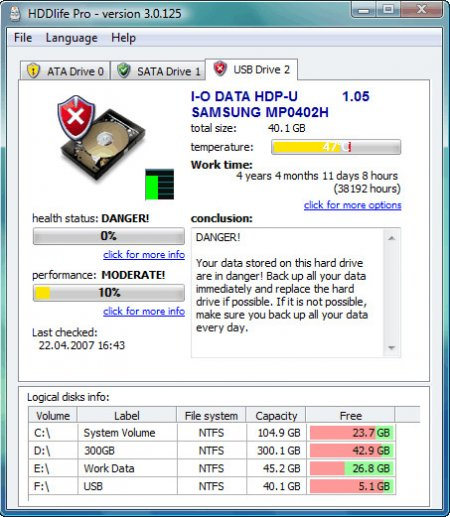 HDDlife Professional v4.0.189