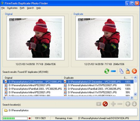 Duplicate Photo Finder 3.3.0.80